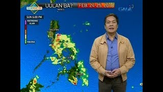 Weather update as of 6:00 a.m. (February 23, 2018)