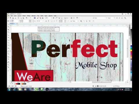 Mobile Shop Banner Design CorelDraw X7 by Tufail Abbas