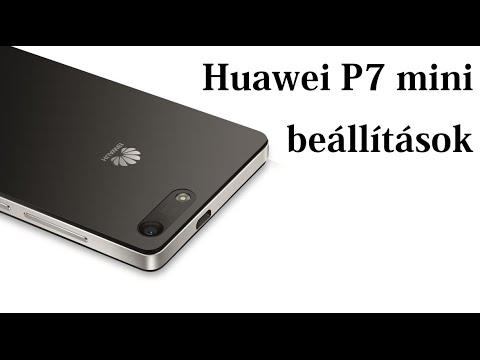 Huawei Ascend P7 mini settings