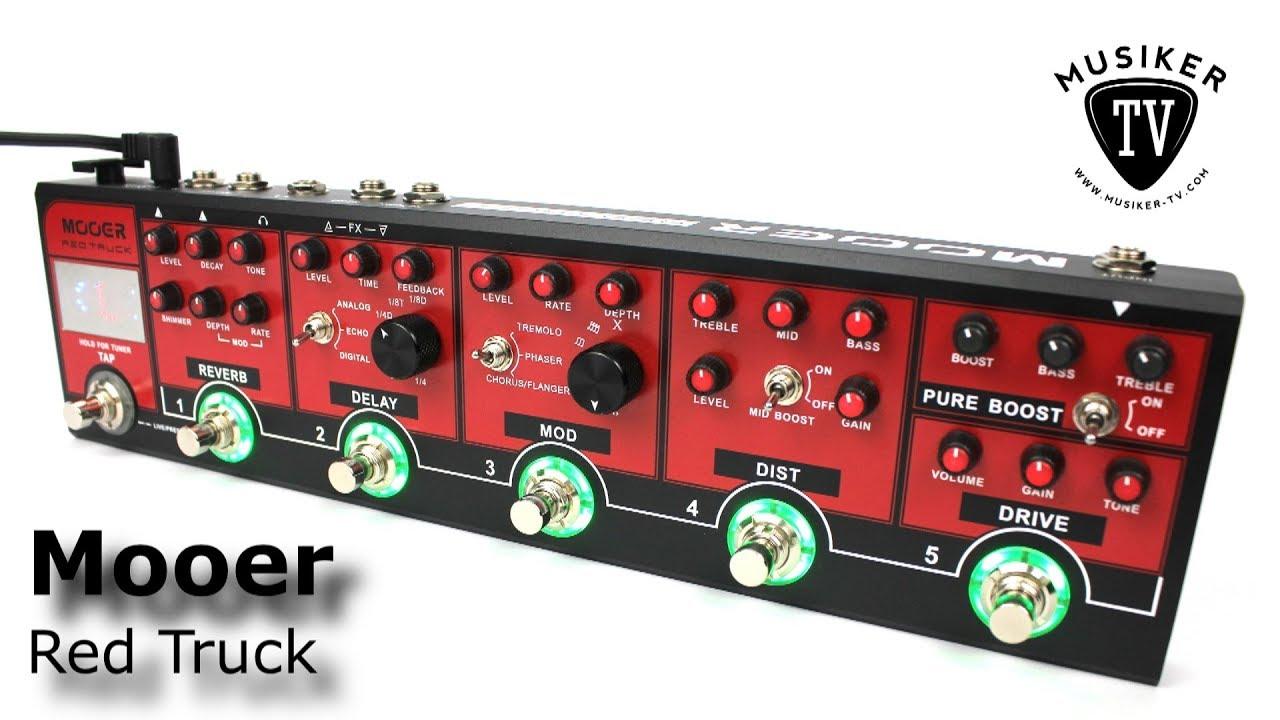 Combined Pedal Mooer Red Truck Multieffektgerät