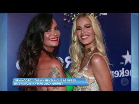 Hora da Venenosa: filha de Luiza Brunet revela que dá broncas na mãe
