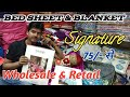 Bed sheets & blankets singnature Brand Wholesale & Retail !! Bed sheet wholesale Market