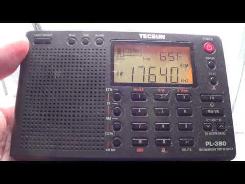 Winter's Day Listening Madacascar World Voice  on Tecsun PL 380 Shortwave receiver