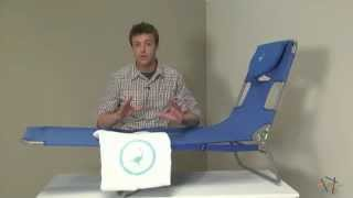 Ostrich Folding Chaise Lounge With Free Towel - Product Review Video