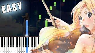 My Lie (Watashi no Uso) - Shigatsu wa Kimi no Uso - SLOW EASY Piano Tutorial [animelovemen]