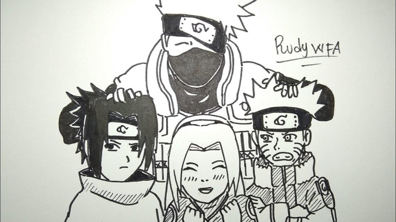 Team 7 Naruto Characters Drawing Novocom Top
