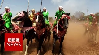 Morocco's warrior women beating men at their own games - BBC News