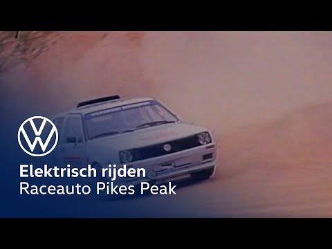 Volkswagen met elektrische raceauto aan de start van Pikes Peak