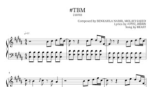BEAST(비스트) - #TBM Piano Sheet(鋼琴譜피아노 악보)