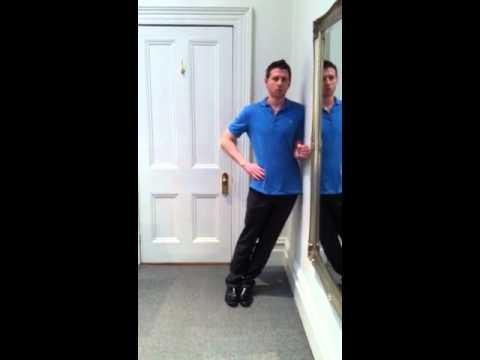 Mckenzie method : Side-glide exercise - YouTube