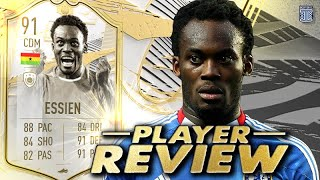 LET'S GO!😱 91 SBC PRIME ICON MOMENTS ESSIEN PLAYER REVIEW! FIFA 21 ULTIMATE TEAM