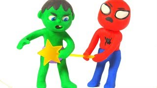SUPERHERO BABIES SHARE THE WAND ❤ SUPERHERO PLAY DOH CARTOONS FOR KIDS