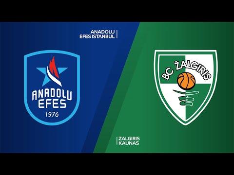 Anadolu Efes Istanbul - Zalgiris Kaunas Highlights   Turkish Airlines EuroLeague, RS Round 29