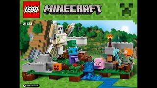 LEGO® Minecraft 21123 Залізний голем. Інструкція по збірці