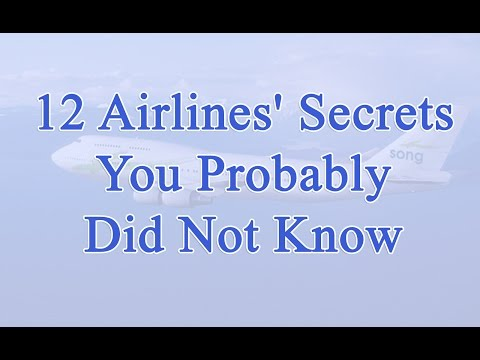 12 Airlines' Secrets You Probably Did Not Know