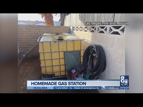 Officials Uncover Homemade Gas Station At Las Vegas Home