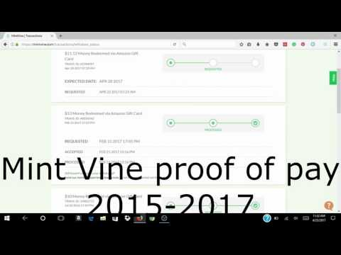 Mint Vine Proof of Pay 2015-2017 FREE & EASY FAST CASH