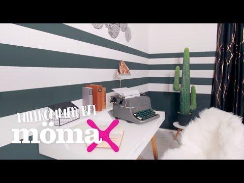 w nde streichen wandgestaltung mit streifen m max beratung youtube. Black Bedroom Furniture Sets. Home Design Ideas