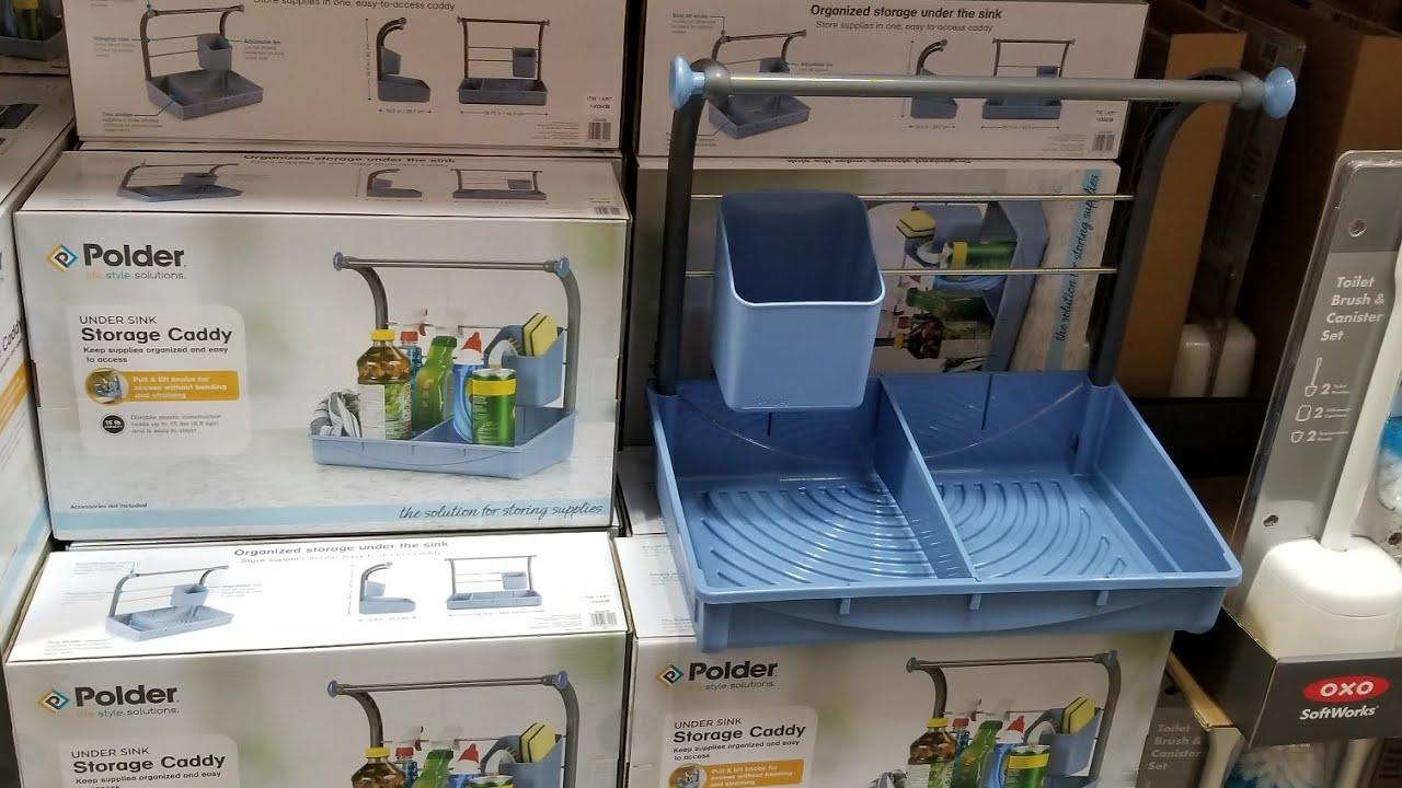 Costco Polder Under Sink Storage Caddy 14 Youtube