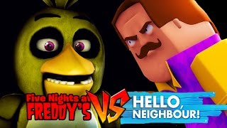 Minecraft - HELLO NEIGHBOUR VS FIVE NIGHTS AT FREDDY'S! (CHICA)
