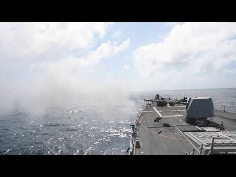 USS Sterett (DDG 104) Mark 45 5-Inch Live-Fire Exercise