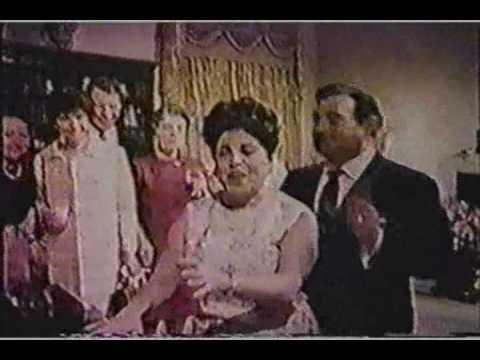 """Richard Tucker & Licia Albanese sing """"Traviata"""" brindisi at a party"""