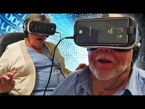 Grandparents React to VR Virtual Reality Oculus for the First Time