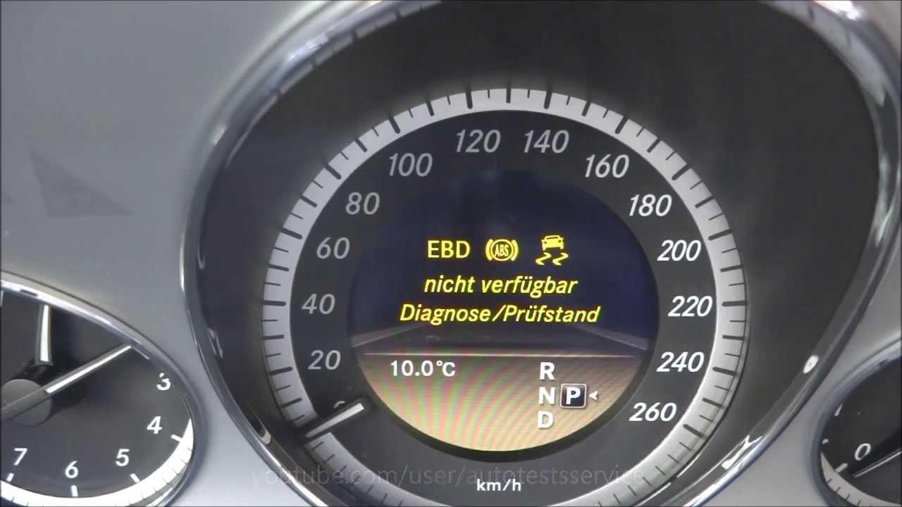 Mercedes How to fully deactivate ESP OFF W212 W204 W218 C218 Prüfstandmodus  Geheimmenü hidden menu