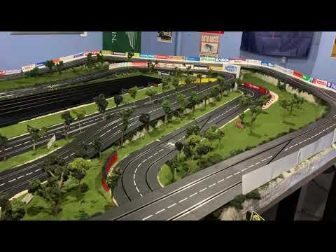 140ft Carrera Digital Slot Car Layout Video