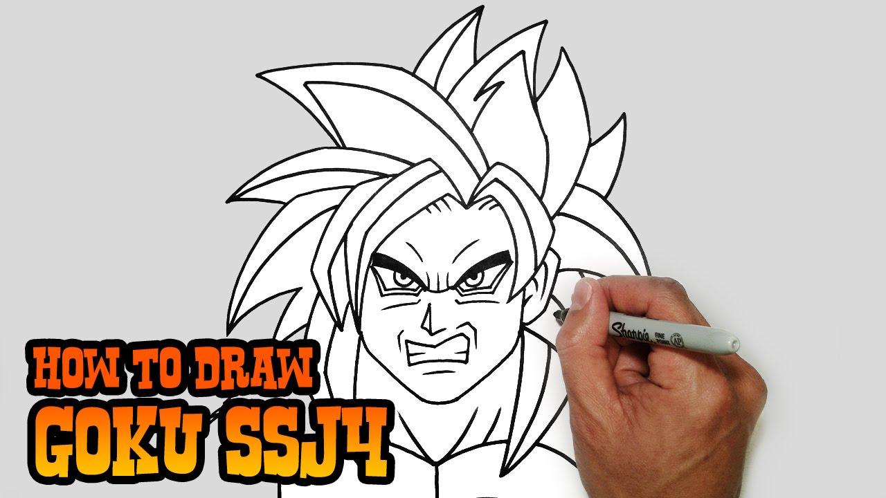 How To Draw Goku Ssj4 Dragonball Z Video Lesson