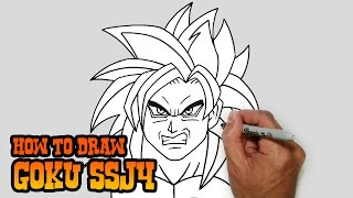 How to Draw Goku SSJ4- Dragonball Z- Video Lesson