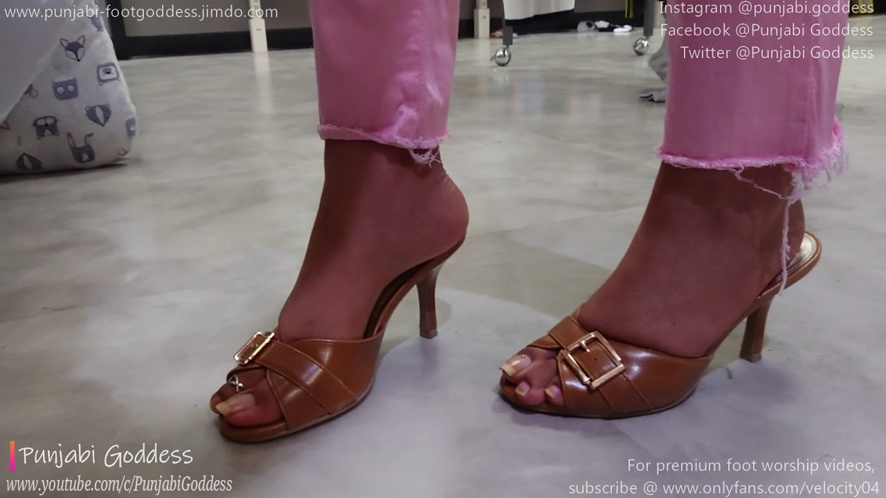 Brown Mules & Clear Long Nails | PG