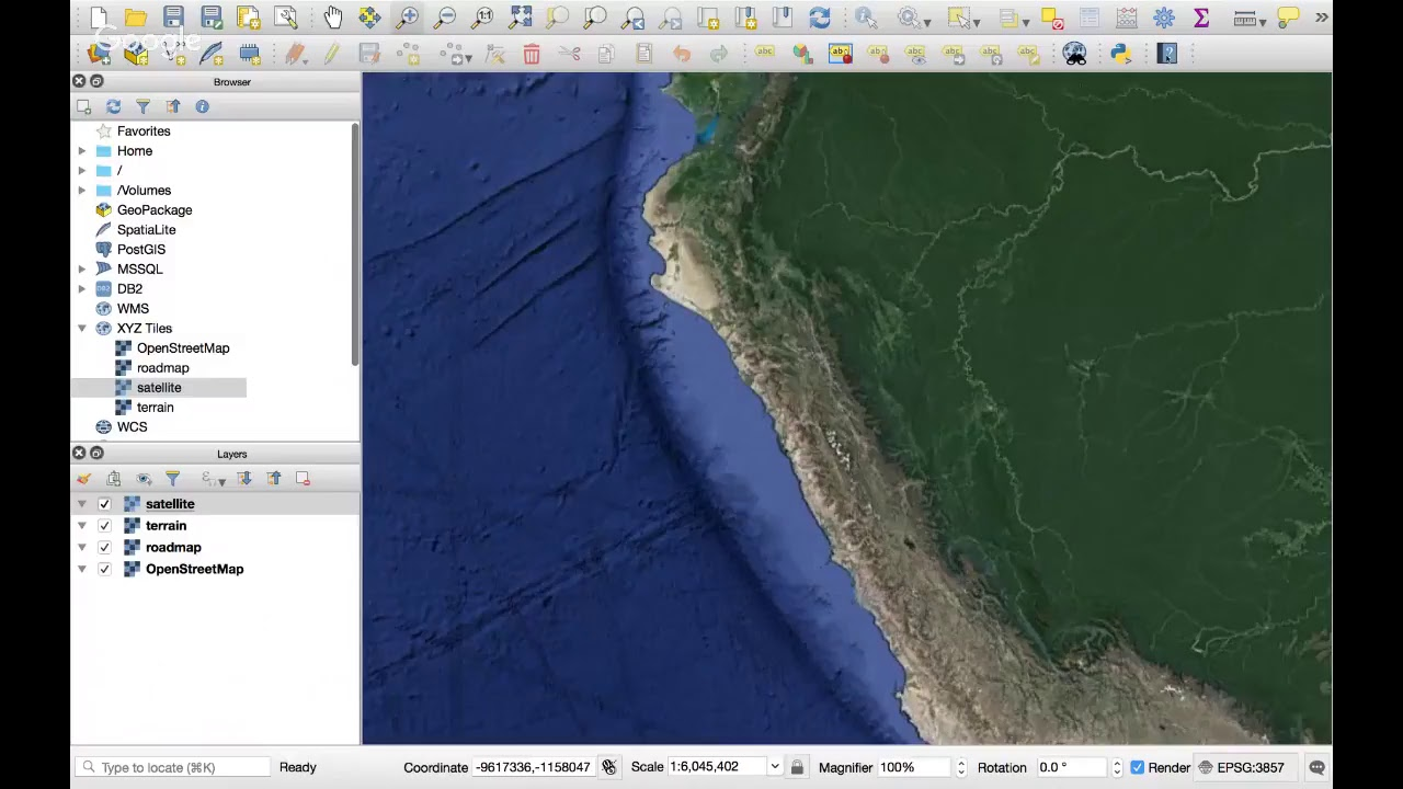 How to add a Google Map/Terrain/Satellite Layer in QGIS 3