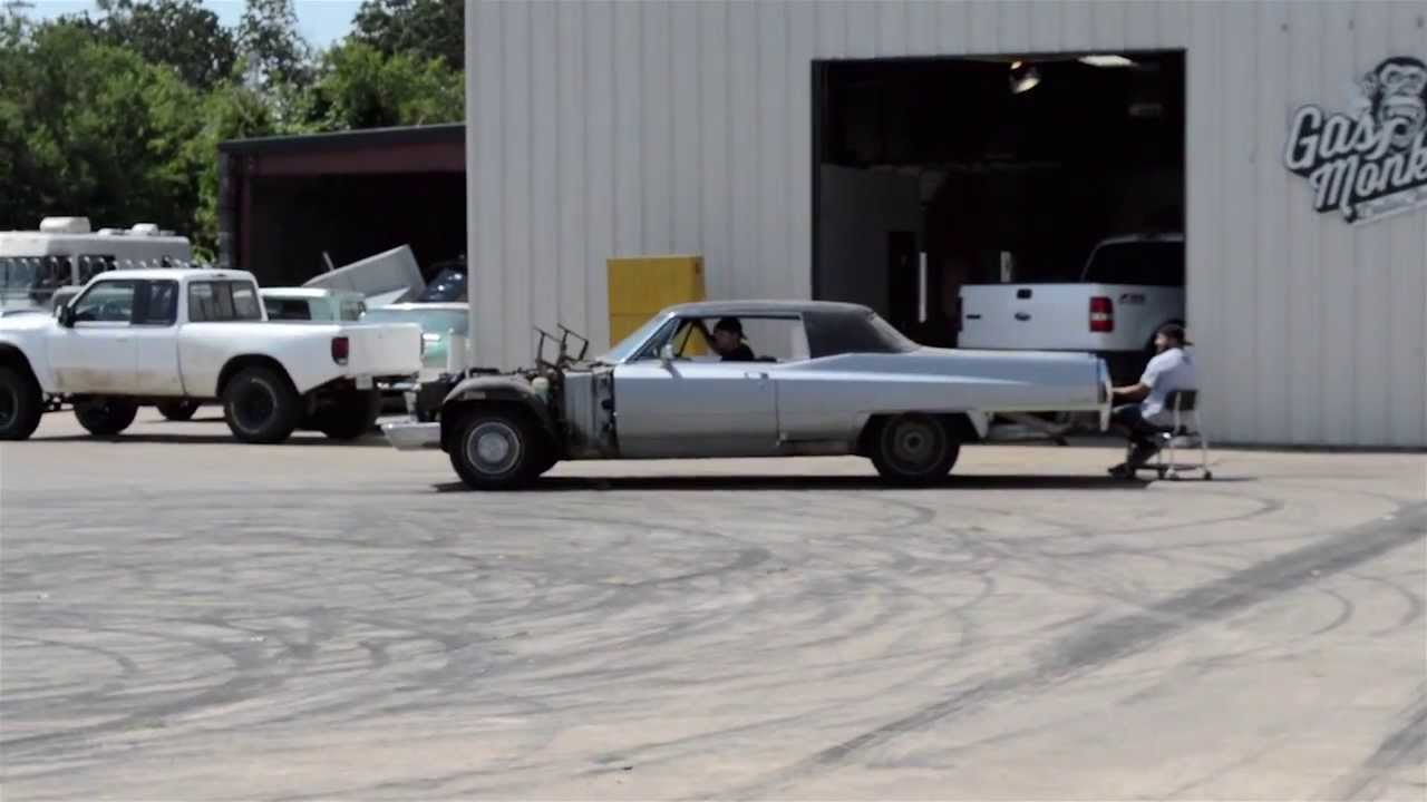 Cadillac test drive by gas monkey garage youtube for Garage fast auto sarcelles
