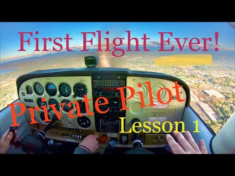 First Flight Ever! Private Pilot Lesson One!