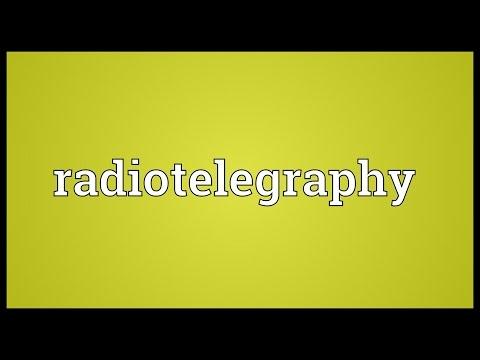 Header of radiotelegraphy