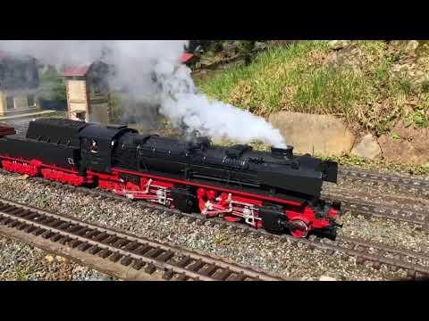 BR 53 0001 G Scale (serious) Steam engine - Spur G Dampflok mit ordentlich Dampf