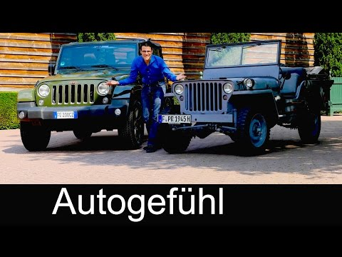 Willys MB 1945 vs Jeep Wrangler 75th anniversary COMPARISON FULL REVIEW test driven Feature