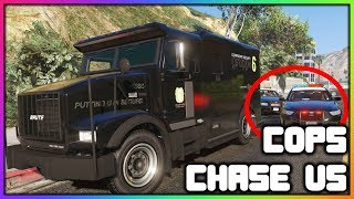 GTA 5 Roleplay - Cops Chase Us With $5 Million Dollars! | RedlineRP