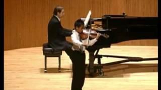 Kevin Zhu, age 9, plays Paganini