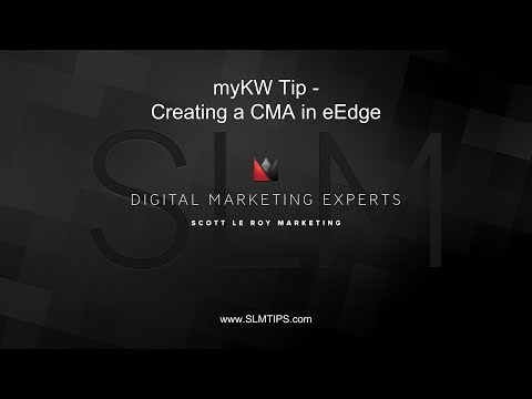 myKW Tip - Creating a CMA in eEdge
