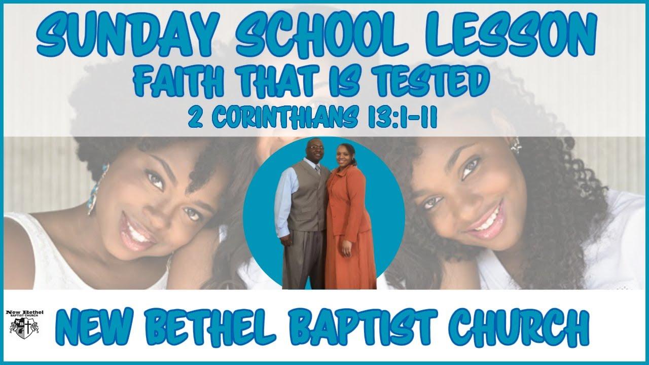 Sunday School Lesson - November 3, 2019 - Faith That Is Tested