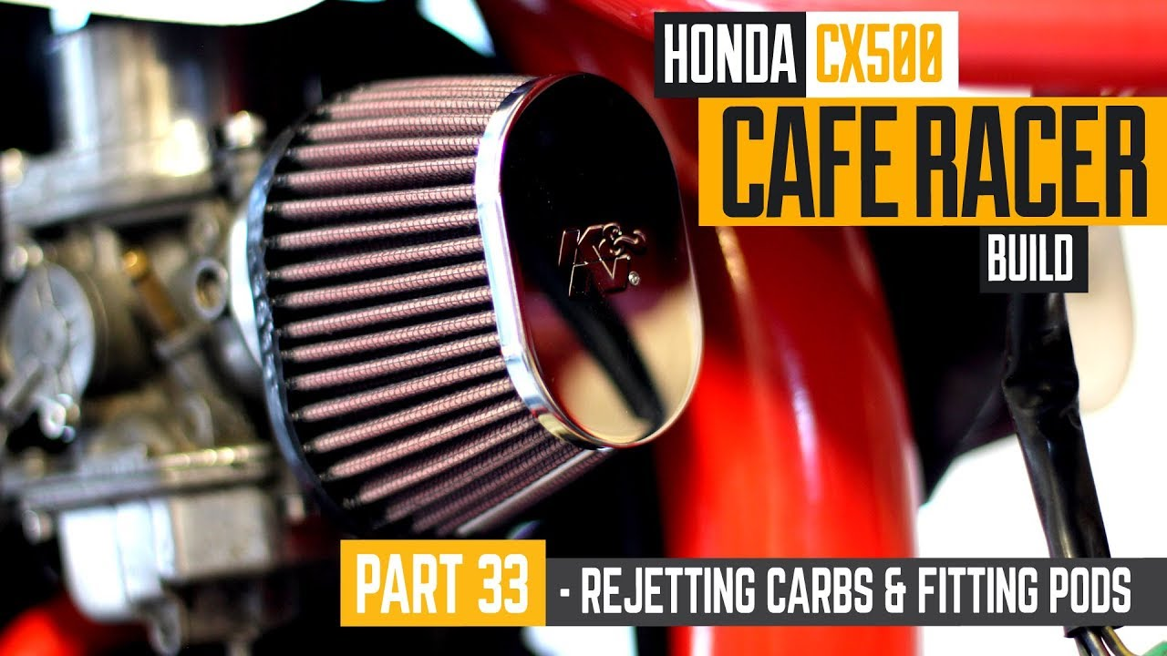Honda CX500 Cafe Racer Build 33 - Rejetting the carbs & fitting K&N pods