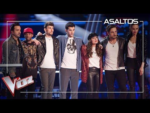 Paulina Rubio, Pablo Lopéz y Antonio Orozco roban a los talents de Fonsi | Asaltos | La Voz Antena 3