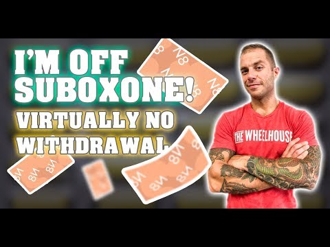 How I Got Off Suboxone With Virtually No Withdrawal - Complete Timeline