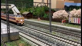鉄道模型 485系特急ひばり5号