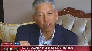 Héctor Guzmán dice oposición propuso a Danilo las primarias abiertas