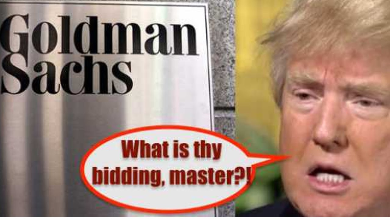 Trump Flip Flips on Goldman Sachs Bankers - Appointed to Secretary ...