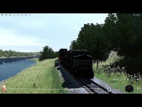 My new Norfolk Southern C40-9W for Trainz! |