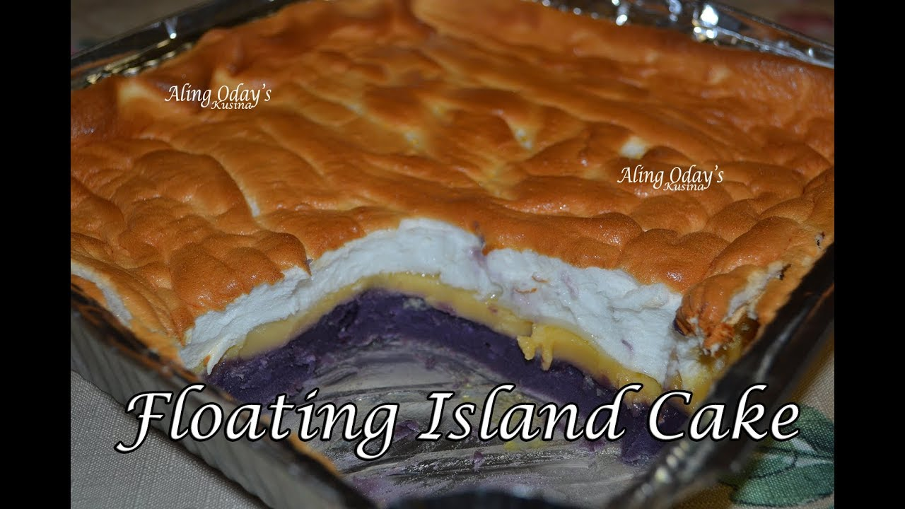 Floating Island Cake Filipino Dessert Cooking